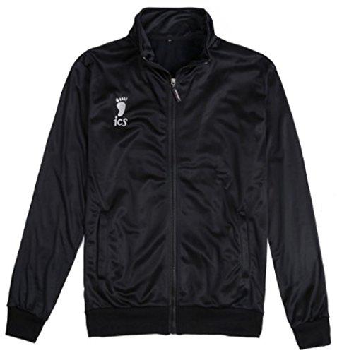 Magabee Haikyuu Karasuno Volleyball Hinata Shyouyou Cosplay Sportswear Jacket Jersey,Black,Large