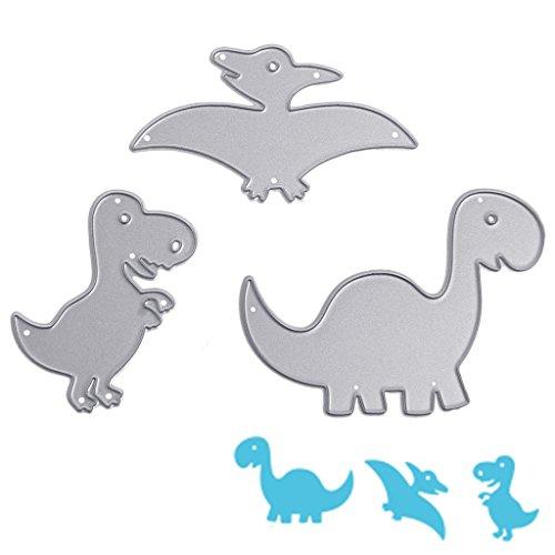 Koehope dinosaurus, stansvormen, sjablonen, scrapbook, album, reliëfkaart, doe-het-zelfdecoratie