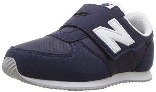 New Balance Unisex-Baby KV220V1I Kinder Schuhe, 24 EUR - Width W, Navy/White
