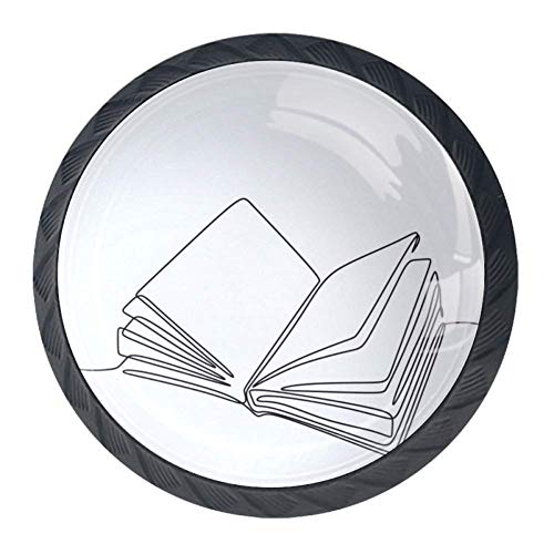 Strichmännchen 4 Stück runde Glasschrank Schränke Knöpfe Kristall Türgriffe für Home Kitchen Garderobe Schrank Schrank Schwarz35mm