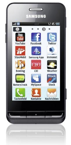 Samsung Wave 723 S7230 Smartphone (8,1 cm (3,2 Zoll) Display, Touchscreen, 5 Megapixel Kamera) midnight-black