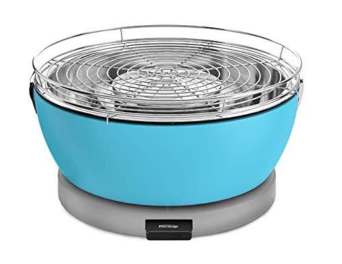Feuerdesign Grill Vesuvio, Ø33cm, blau, für Holzkohle, mit Grillzange (9329916752)
