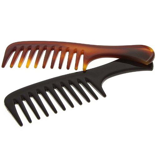 Afro kamm für voluminöses Haar, Kosmetex 14 cm Afro Haar Styler für dichtes, lockiges und langes Haar., 2er Set