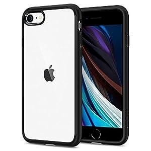 "Spigen iPhone SE ケース 第2世代 2020 iPhone 8 ケース iPhone 7 ケース 対応 TPU バンパー 背面クリア 米..."""