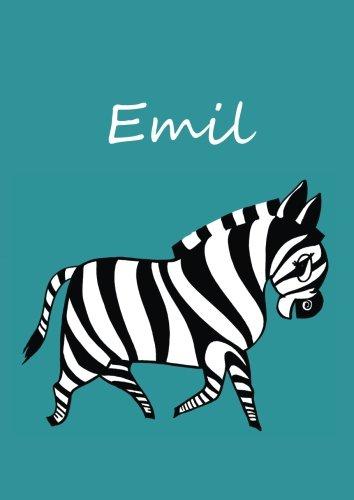 Malbuch / Notizbuch / Tagebuch - Emil: A4 - blanko - Zebra - Emil