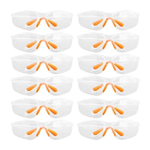 TOYANDONA 12 Piezas Gafas de Seguridad Gafas Protectoras Gafas Protectoras Médicas Gafas de Salpicadura Química Transparente Antipolvo para Protección Total de Los Ojos