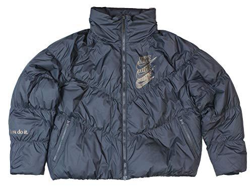 Nike Sportswear Down-Fill Jacke Softshell, Damen M Schwarz/Schwarz/Metallic Gold