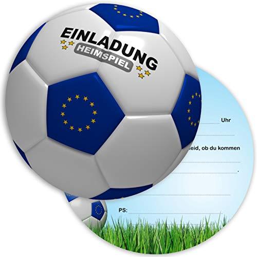 Ligano 8 Fußball Einladungskarten Kindergeburtstag - Geburtstagseinladungen für Kinder - Fussball rund (Europa)