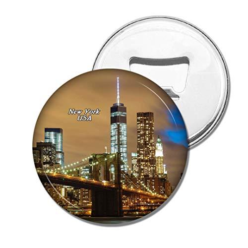 Weekino Brücke New York USA Amerika Brooklyn Bier Flaschenöffner Kühlschrank Magnet Metall Souvenir Reise Gift