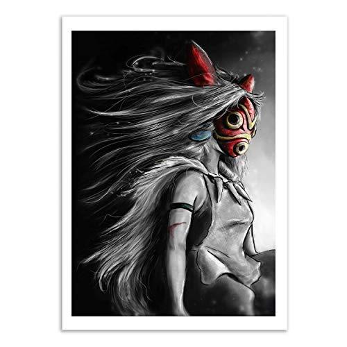 WALL EDITIONS Art-Poster - Mononoke - Barrett Biggers - Format : 50 x 70 cm
