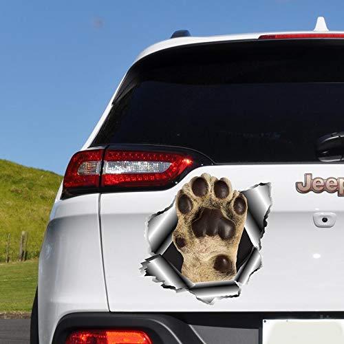 Adesivo per auto con zampe di cane, divertente decalcomania per auto, adesivo per auto, decalcomania con impronte di zampe, accessori per auto, decalcomania per ragazze O155