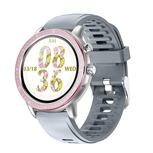 ZRY Nuevo Reloj Inteligente Hombres y Mujeres SmartWatch Pulsera Pulsera Fitness Tracker Presión Arterial Pulsera a Prueba de cardíes S02 DT78,B