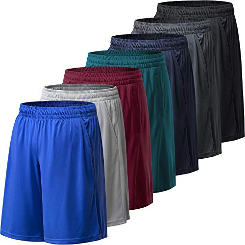 BALENNZ Athletic Shorts for Men with Pockets and Elastic Waistband Quick Dry Activewear