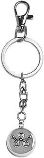 invisawear Smart Jewelry - Personal Safety Device - Silver Unisex Keychain