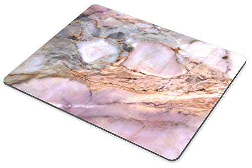 Smooffly Office Mousepad Rectangle Mousepad White Gold Marble Pad Pink Marbled Mouse pad Rose Gold for her Marble Desk Photo #4