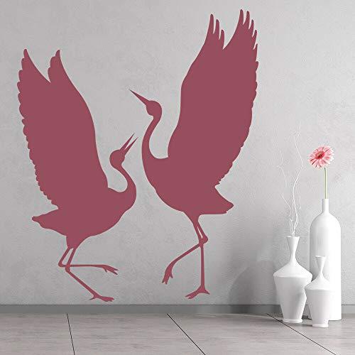 HGFDHG Heron Bird Pared calcomanía Animal Salvaje Arte Mural niños Dormitorio guardería decoración Interior Ventana Vinilo Pegatina Papel Tapiz Creativo