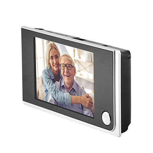 Ccylez Visor de Puerta Digital de Seguridad, Timbre Digital LCD de 3.5 Pulgadas, cámara de Mirilla electrónica 720P HD 120 °, Mini Visor de Puerta Monitoreo Visual de Fotos para Seguridad en el hogar