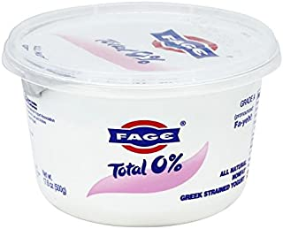 Fage Total Greek 0 % Greek Yogurt, 17.6 Ounce (Pack of 6)