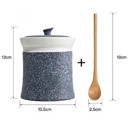 XU-Storage Barattolo Di Condimento in Ceramica Smaltata Fiocco Di Neve Serbatoio Di Condimento Domestico Blu scuro c