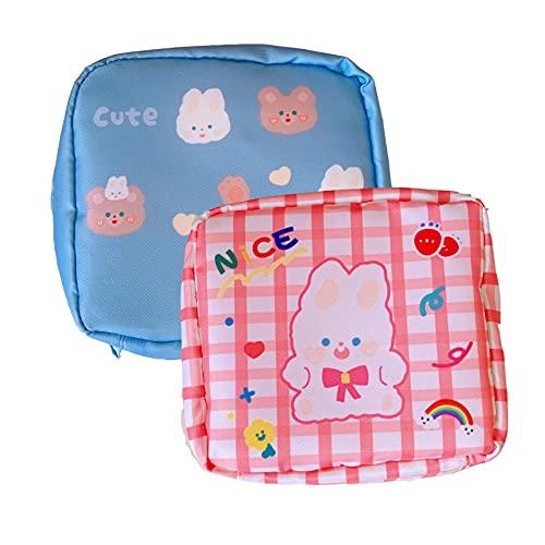 2 Pcs Mädchen Tasche, Geldbörse Kinder Mädchen, Binden Aufbewahrung Kann als Geldbörse Verwendet Werden, Kann Auch Kleinigkeiten und Andere Kleinigkeiten Aufbewahren.