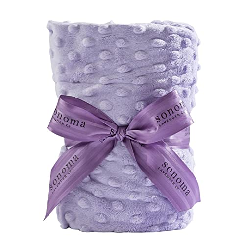 Sonoma Lavender Luxury Spa Heat Wrap for Neck and Shoulders, Microwaveable Heating Pad, Stress and Pain Relief Wrap, Lilac Dot