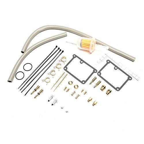 Kit de reconstrucción de reparación de carburador for H A R L E Y-Davidson Carburetor con tornillo de ralentí Bujía de combustible Filtro de combustible Jet de bajo rango, Keihin CV Reemplazar 27006-8