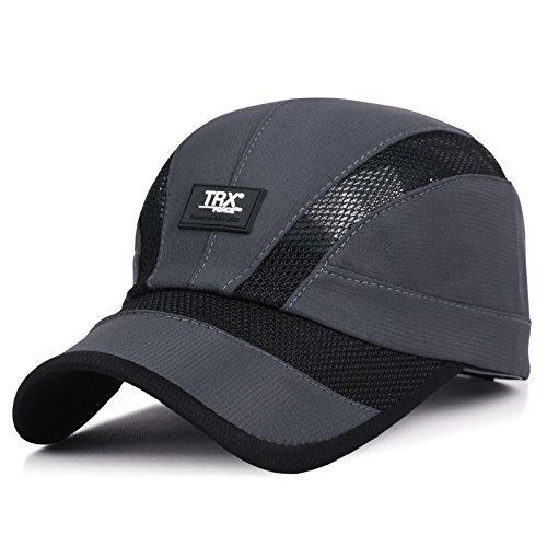 XBR Chapeau Summer Parasol Hat à l'extérieur de la Mode pour Hommes sur la pac Casquette de Base - Ball Gris foncé