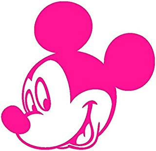 Mickey Mouse-3-Disney-Pegatinas Prespaziato-10 cm, color Fucsia