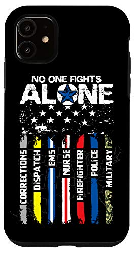 iPhone 11 First Responders American Thin Line Police Fire Military EMS Case
