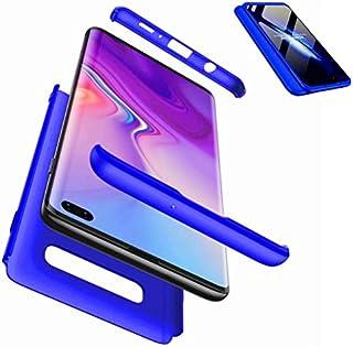 JWYD Samsung Galaxy S10 PLUS/10+ ケース 軽量 耐久性 手触りよく スクラッチ防止 指紋防止 PC 耐衝撃 Samsung Galaxy S10 PLUS/10+ ケース 薄型 おしゃれ かっこいい (強化ガラスフイルム含めません) (ブルー)