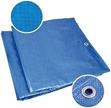 Ferrestock FSKTPI08X12 afdekzeil, waterdicht, van polyethyleen, met versterkte rand en metalen ogen, 8 x 13 m, blauw
