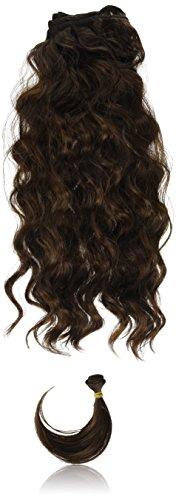 chear italien Body Wave Extensions capillaires Cheveux Humains avec extension de mélange tissage, marron foncé numéro 4, Taille M, 46 cm