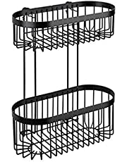 Wenko Wandplank met haak Classic Plus Zwart, staal, 35 x 10,5 x 12,5 cm
