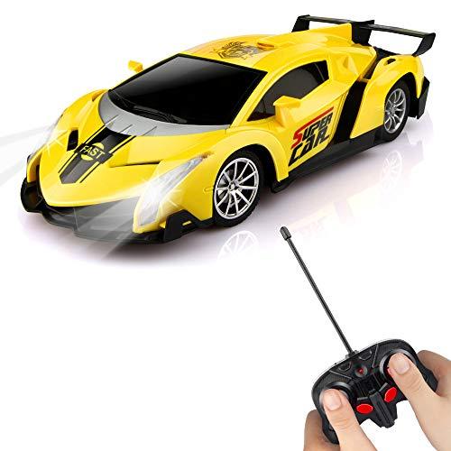 Baztoy Ferngesteuertes Auto, Kinder Spielzeug 1/24 Modell Auto RC Car Elektronisch Fernbedienung Fahrzeug mit...