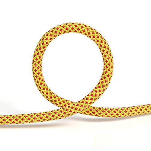 ZHWNGXOlian Cuerda Auxiliar Multifuncional para Exteriores De 6 Mm, Cuerda para Atar, La Tensión Es De 500 Kg (Clip Amarillo Rojo)(Size:20M)