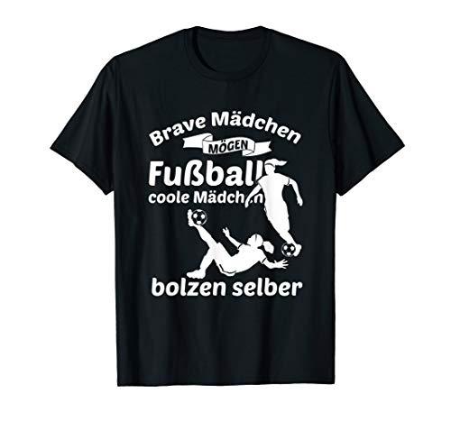 Fußball Shirt Lustig Frauenfußball Geschenk Mädchen Fussball T-Shirt