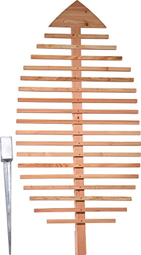 dobar Pflanzen-Rankhilfe Design in Blattform, Rankgitter aus Holz, XXL-Rankgerüst, Lärche, natur, 84x6.5x160 cm, 58211e, 84 x 6.5 x 160 cm