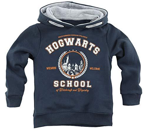 Harry Potter Hogwarts School Unisex Kapuzenpullover Navy 140
