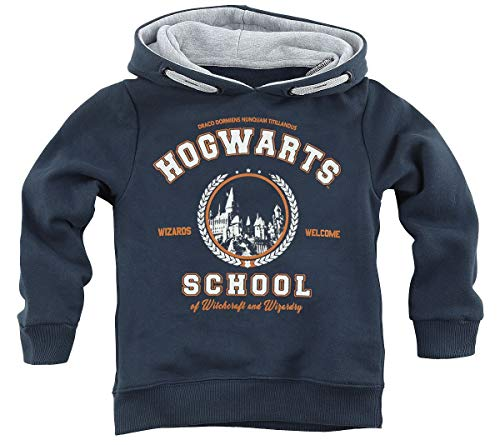 Harry Potter Hogwarts School Unisex Kapuzenpullover Navy 140