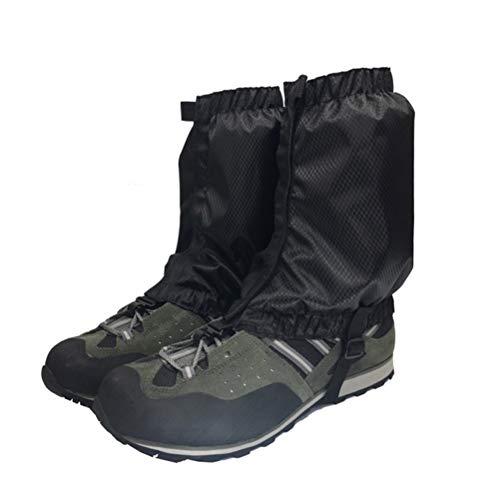 VORCOOL 1 Paar Schnee Gamaschen Leichte wasserdichte Knöchel Gamaschen für Outdoor Wandern Klettern (Schwarz)