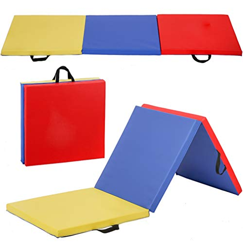 BestMassage Gymnastics Mats 6x2x2 Exercise Mat Tumbling Mats for Gymnastics 6 FT Gymnastics Mats for Home Exercise Pad 3 Folding Lightweight Home Gymnastics Panel Mat for Home Gym Mat Yoga Mat