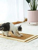 ソリッドウッドキャットスクラッチマットボード、垂直サイザル麻研削爪、特大猫スクラッおもちゃの家具を保護します (Color : M)