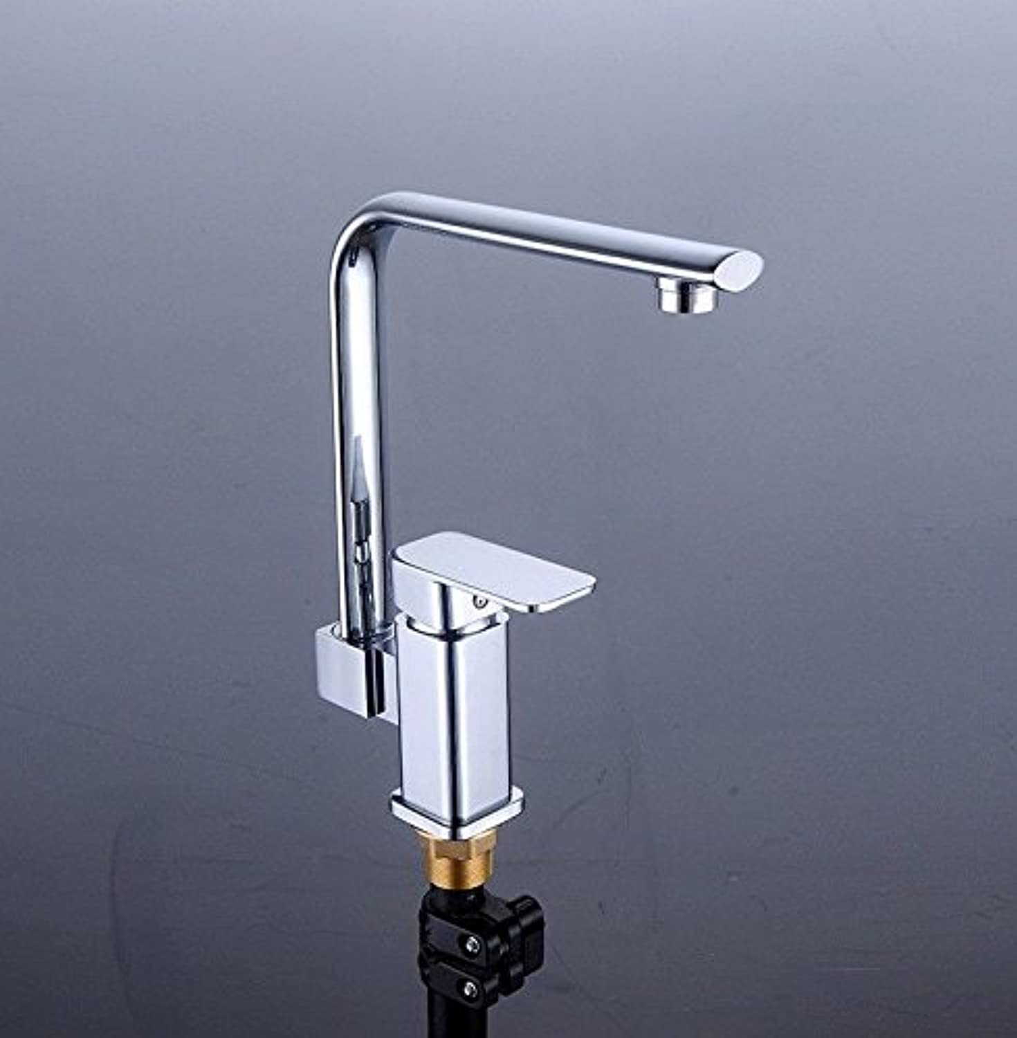 Commercial Single Lever Pull Down Kitchen Sink Faucet Brass Constructed Polished Kitchen Faucet Plating Lead-Free High Pole Sink Faucet