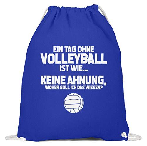 shirt-o-magic Bech-Volleyball: Tag ohne Volleyball? Unmöglich! - Baumwoll Gymsac -37cm-46cm-Royales Blau