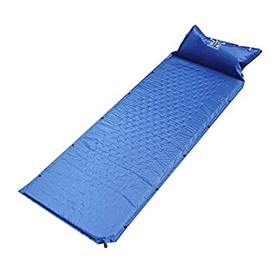 Vech XDeal Self Inflating Sleeping Pad, Lightweight Camping Pad with Pillow, Comfortable Foam Camping Mat for Traveling and Hiking, Portable Camping Air Mattress Folding Sleeping Mat (Dark Blue)