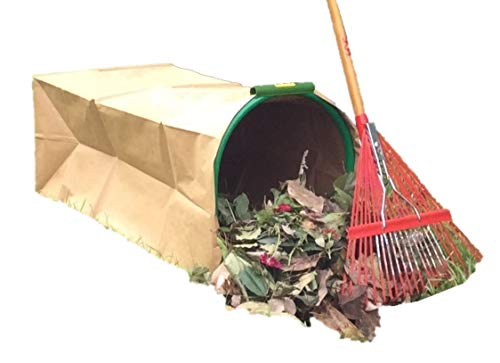 Affordable Leaf Gulp II Lawn Bag Holder Turns PAPER Leaf Bags into Hands-Free Dustpan With Spikes Ju...