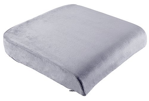 """COMFYSURE Extra Large Firm Seat Cushion Pad for Bariatric Overweight Users - Firm Memory Foam Chair Support Pillow for Wheelchair, Office & Car 19""""x18""""x3' (Grey)"""