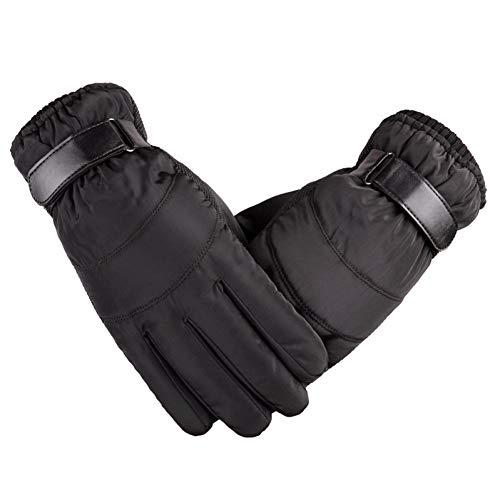 LKXL Winterhandschuhe Winter Herren Satin Handschuhe Gepolsterte Regenfeste Ski Warme Winddichte Baumwollhandschuhe Regenfeste Handschuhe