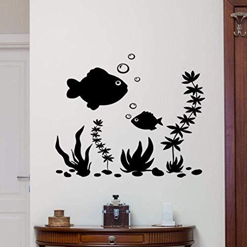 Muursticker Vis Muursticker Verwijderbare Nautische Poster Kwekerij Vinyl Aquarium Muursticker Huisdecoratie Zee Vis Stijl Vinyl Wallpaper42X35Cm