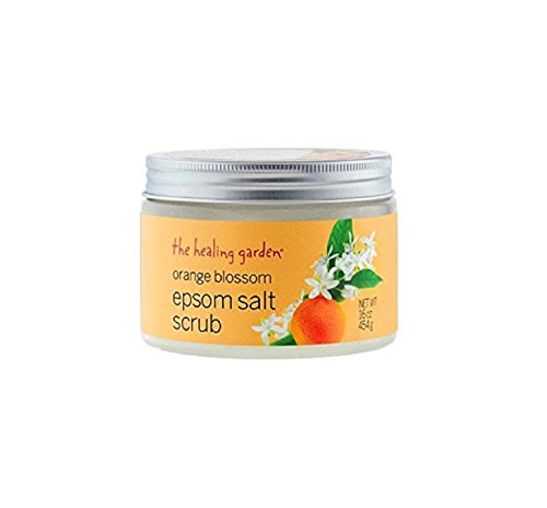 The Healing Garden Orange Blossom Epsom Salt Scrub, 16 oz (1)